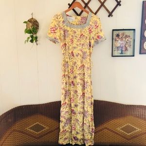Whimsical Floral Maxi Dress